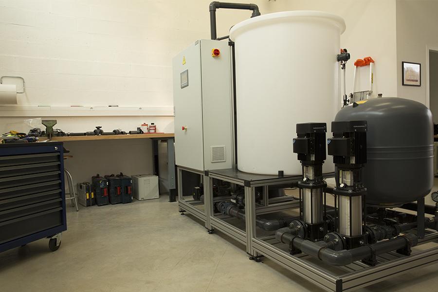 Fabrication station filtration eau de pluie